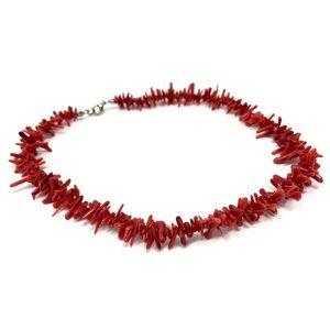 Vintage Coral Heishi Necklace
